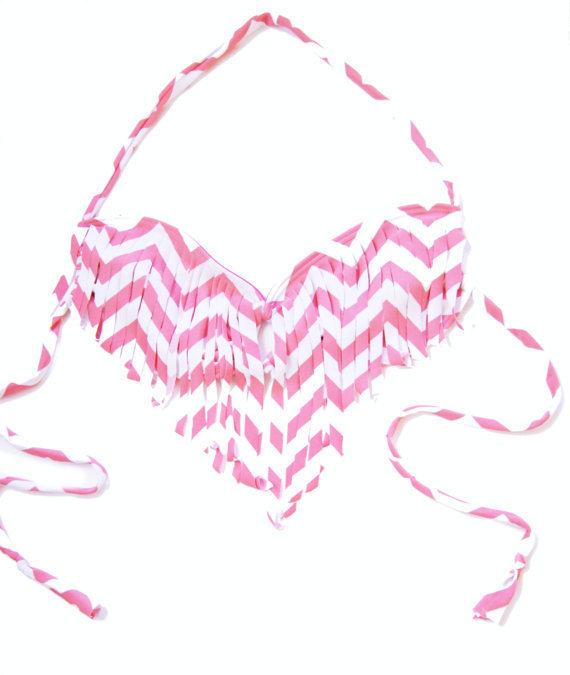 fringe bikini chevron federalChevron Fringe Bikini Top on Wanelo GaoGvr0m