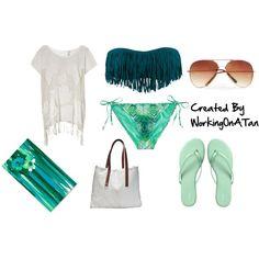 fringe bikini polyvore outfitsCute bikinis on Pinterest GyMXlyAU
