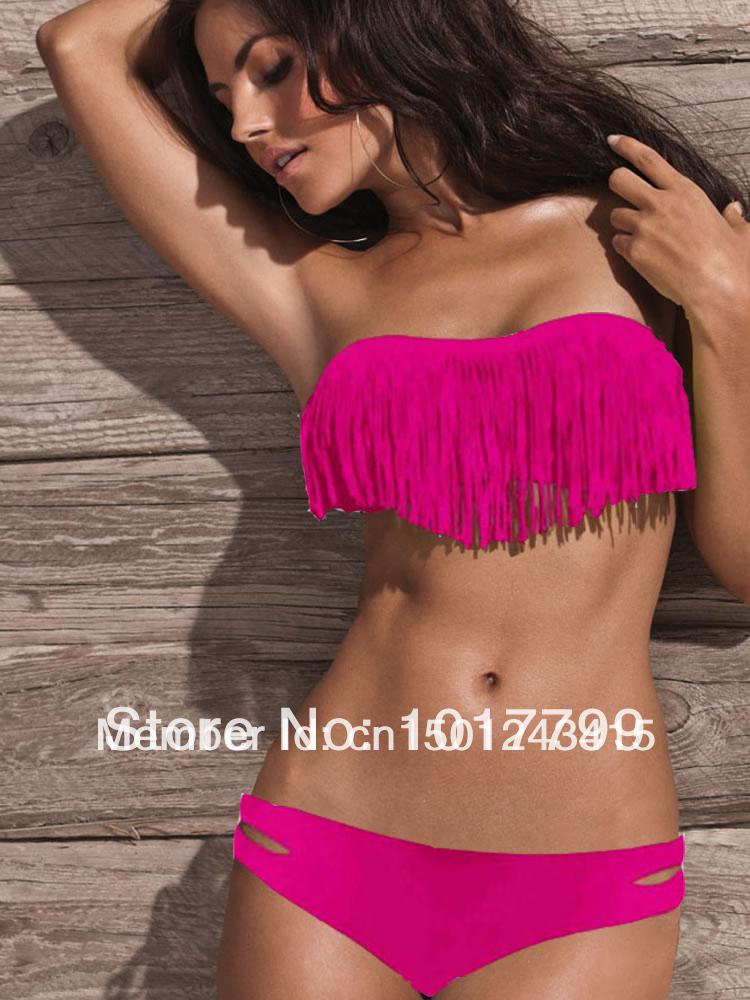 fringe bikini top bluetooth headsetsAliexpresscom   Buy Beauty Women Favor Padded Boho Fringe Top LHEBbOUz