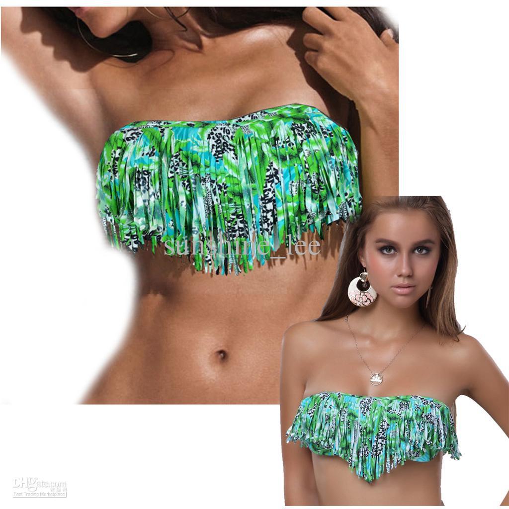 fringe bikini top onlyWholesale Swimwear Bikini   Buy Sexy Womens White Leopard Fringe qxnaKKgz