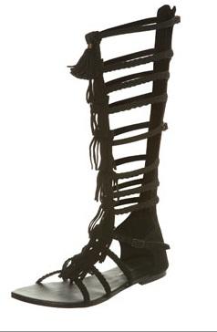fringe black gladiator sandals knee highFringes Clothes clothes clothes pzQ7hTzd