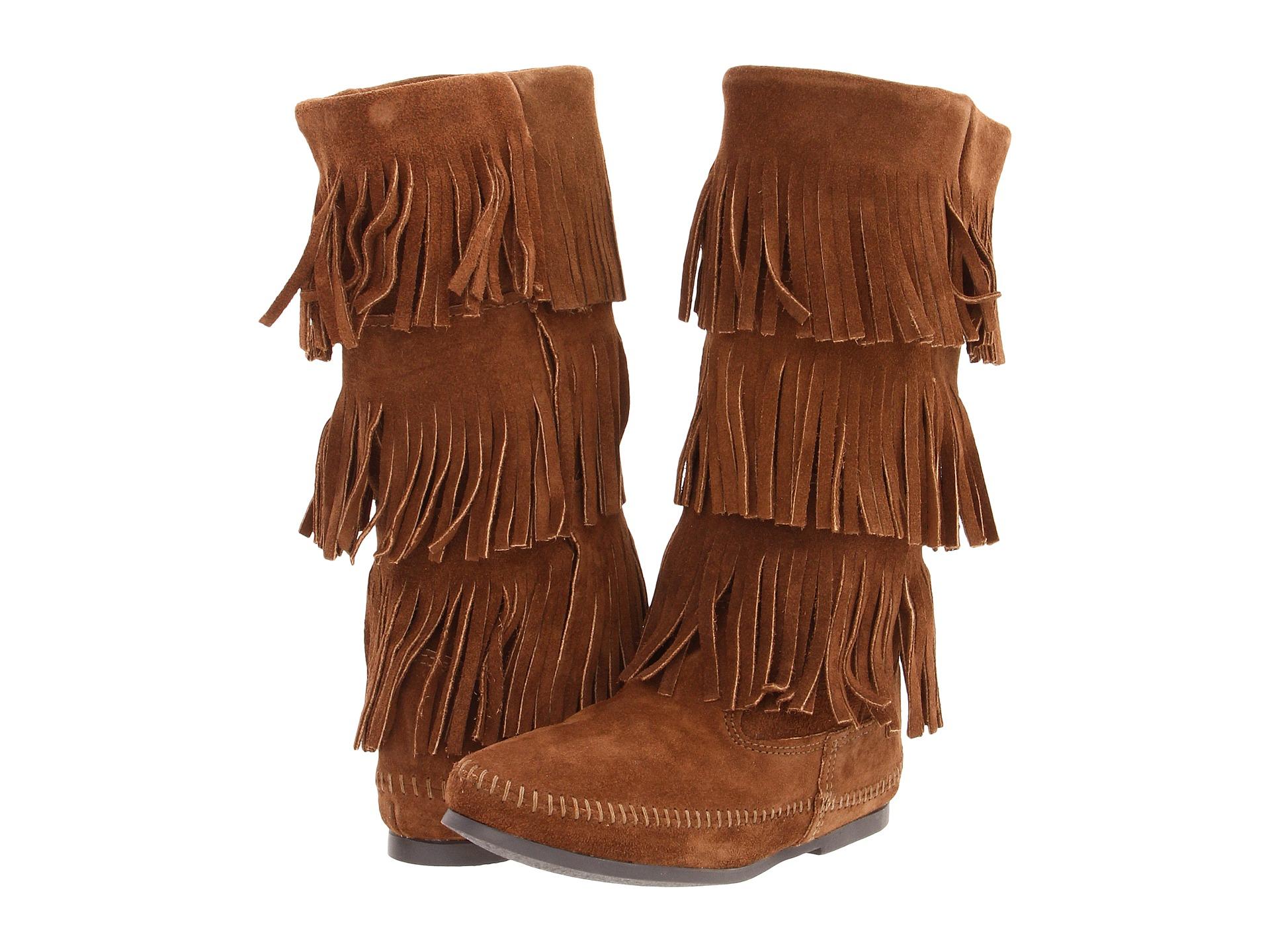 fringe boots for cheapMinnetonka Calf Hi 3 Layer Fringe Boot   Zapposcom Free Shipping 7mTzCwuO