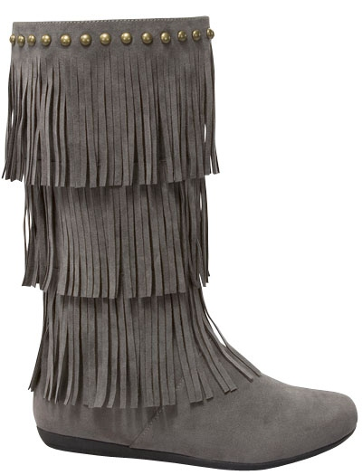 fringe boots on saleLAST PAIR SALE Charcoal Grey Fringe Boots pZdwx4V5