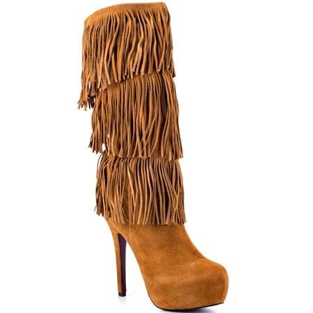 fringe boots with heelBrown Fringe Heel boots photo preciousstones photos   Buzznet TMJTbpu6