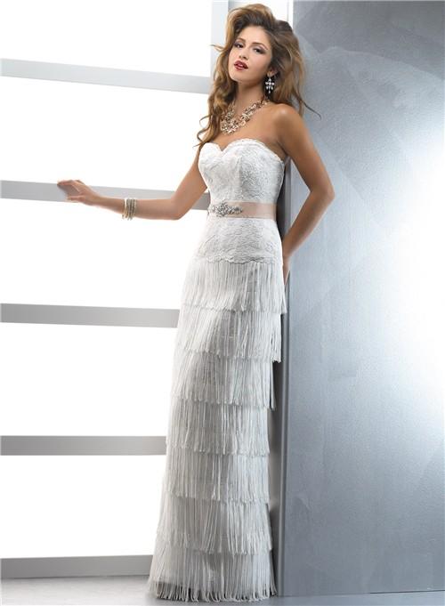 fringe bridesmaid dresses with sleevesUnique Couture Sheath Sweetheart Lace Fringe Wedding Dress With 8iTC0pCo