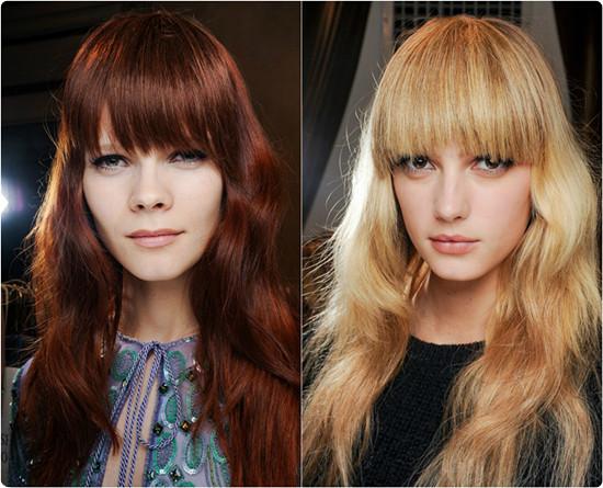 fringe brown bangs blonde hairLow Ponytail Hairstyle JwH8QWO9