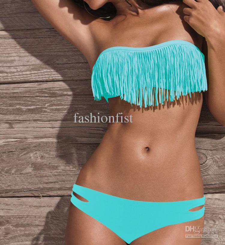 fringe cheap bathing suits for juniorsCheap Swimwear Swimsuit   Best Fringe Top Strapless Swimsuit gFT7y45A