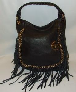 fringe cheap mk purses for cheapMichael by Michael Kors Vienna Hobo Bag Purse Handbag Black rPzGNb1N
