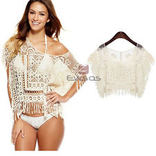 fringe crochet bikini cover upstassel cover up small eBay Wl4D7a6a