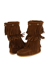toddler brown fringe bootsMinnetonka Kids 3 Layer Fringe Boot Toddler Youth Dusty Brown SL8SIMgo
