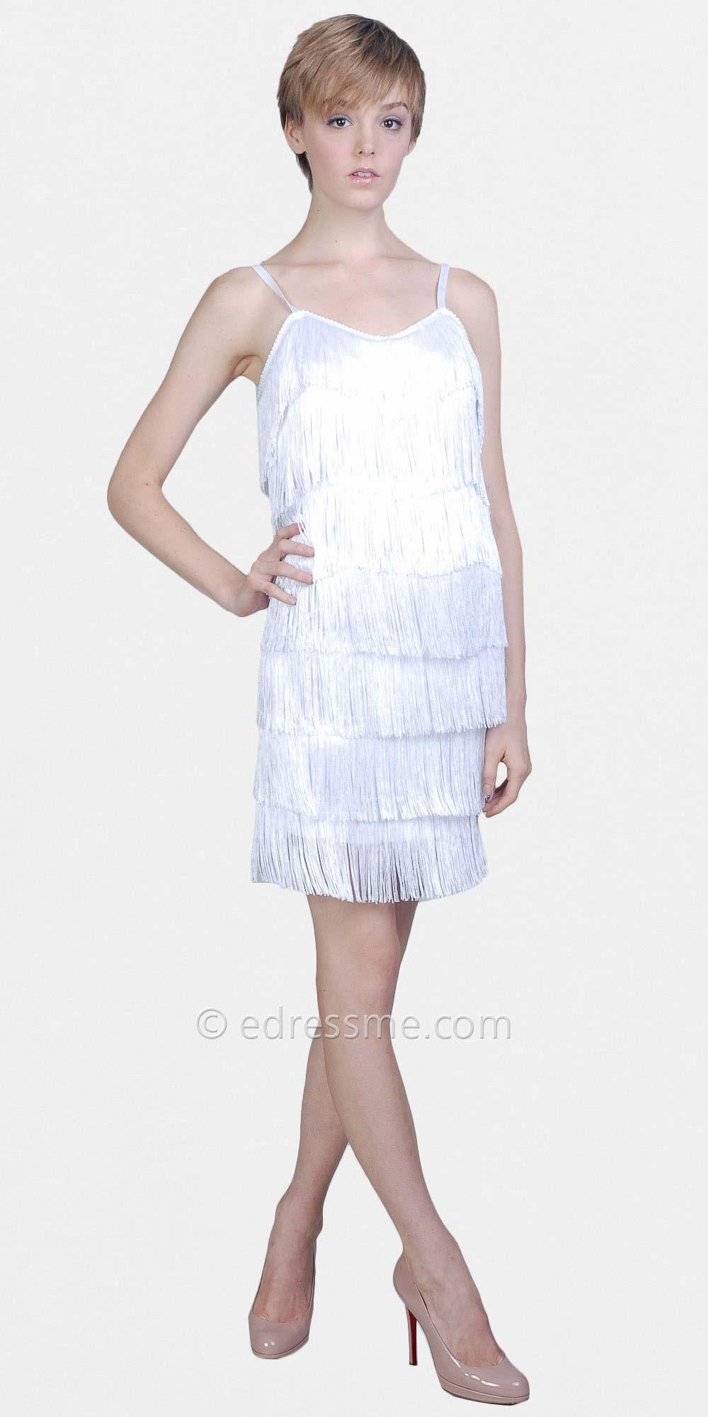 white flapper fringe dressWhite Flapper Dresses by eDressMe hJQE7Diw
