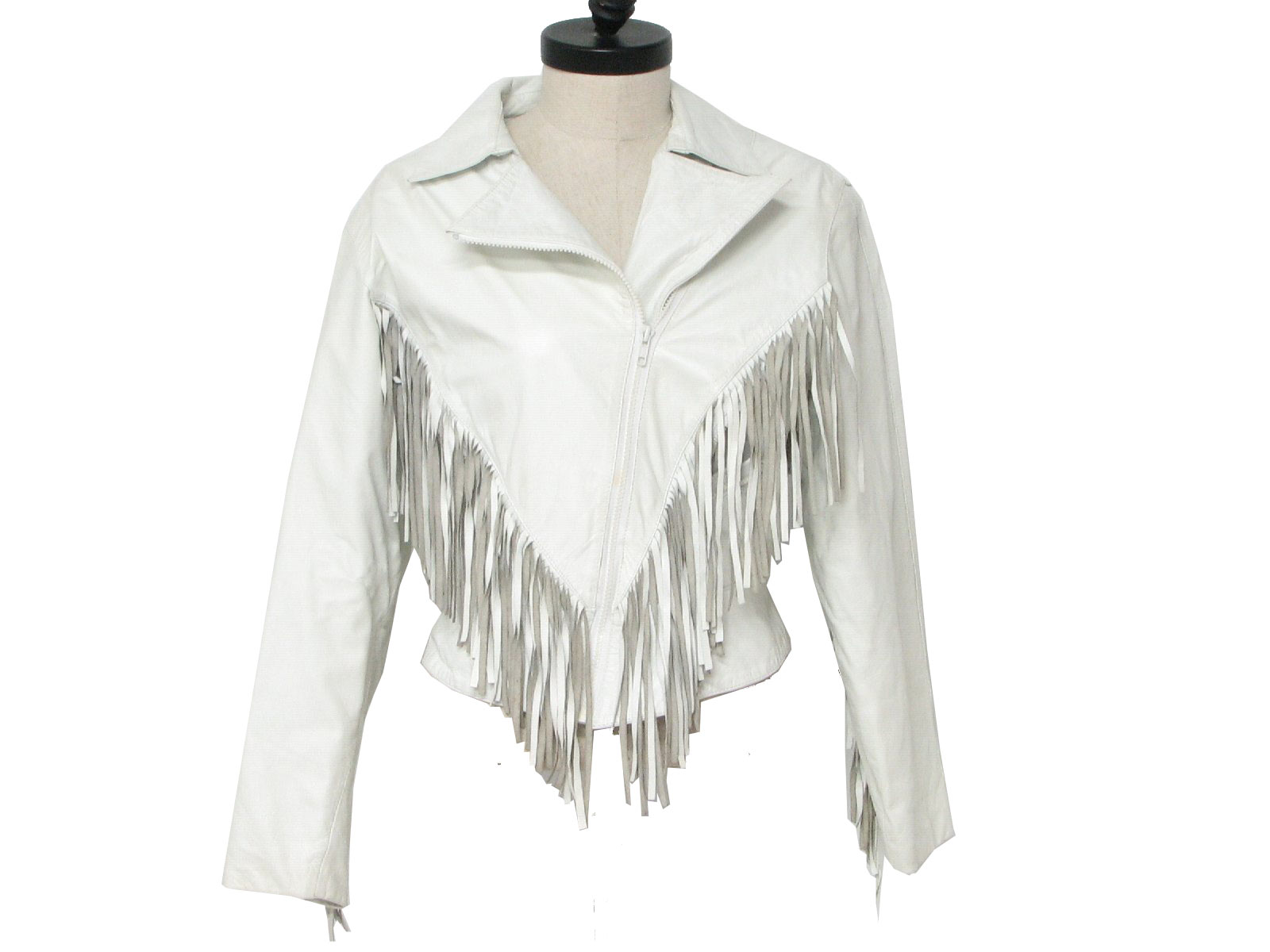 white leather fringe jacket80s Vintage Wilsons Leather Jacket  80s  Wilsons  Womens white dpLfWMD2
