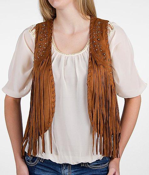 womens brown fringe vestMiss Me Fringe Vest Buckle J6MfJ7dU